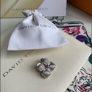🌸 David Yurman Diamond Cushion Chiclet Earrings
